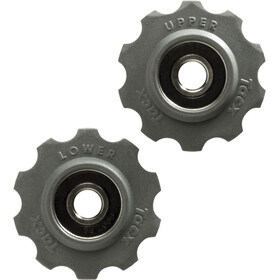 Tacx Roldanas de cambio Cojinete de acero inoxidable 10 dientes Shimano/Campagnolo/SRAM